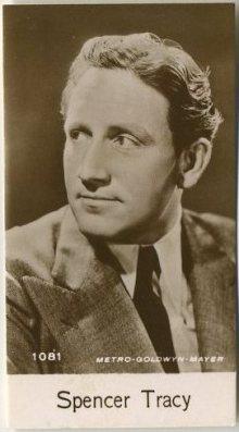 Spencer Tracy 1940 De Beukelaer Trading Card