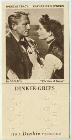 Spencer Tracy and Katharine Hepburn 1948 Dinkie Grips Trading Card