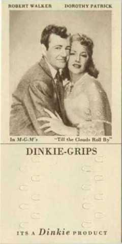 Robert Walker and Dorothy Patrick 1948 Dinkie Grips Trading Card