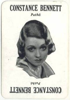Constance Bennett 1929 Movie Land Keeno Game Card