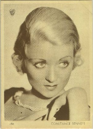 Constance Bennett 1930s Aguila Trading Card