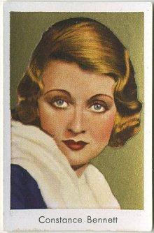 Constance Bennett 1930s Bulgaria Brand Tobacco Card