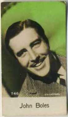 John Boles 1930s De Beukelaer Trading Card