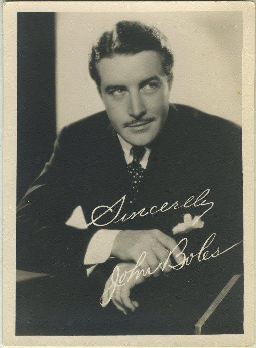 John Boles 1930s 5x7 Fan Photo