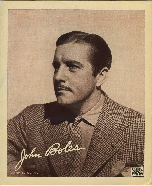 John Boles 1930s 8x10 Movie Theater Handout Photo