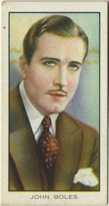 John Boles 1935 BAT Cinema Celebrities Tobacco Card