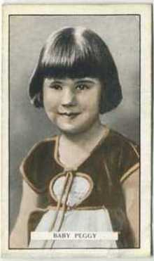 Baby Peggy 1926 Gallaher Tobacco Card
