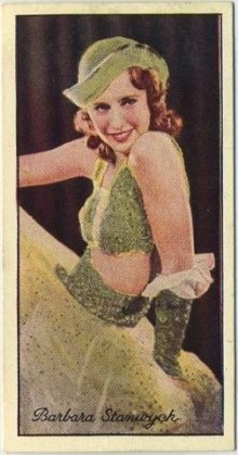 Barbara Stanwyck 1935 Carreras Film Stars Tobacco Card