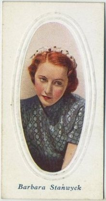 Barbara Stanwyck 1936 Godfrey Phillips Tobacco Card
