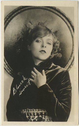 Blanche Sweet on a 1910s era real photo postcard