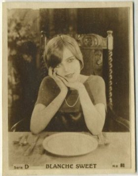 Blanche Sweet on a 1920s Abel Hermanos tobacco card