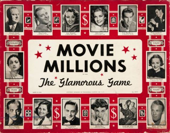 1938 Transogram Movie Millions Game Set Box Cover