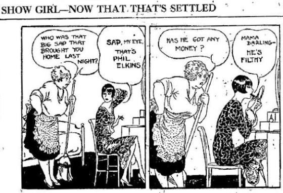 Show Girl strip from the Independent of Helena, Montana, November 4, 1929, page 2.