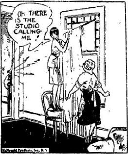 Dixie Dugan comic panel, December 30, 1929 from the Independent of Helena, Montana, page 16