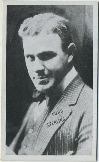 Ford Sterling on a 1910s era Kromo Gravure trading card