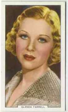 Glenda Farrell 1939 Gallaher Tobacco Card