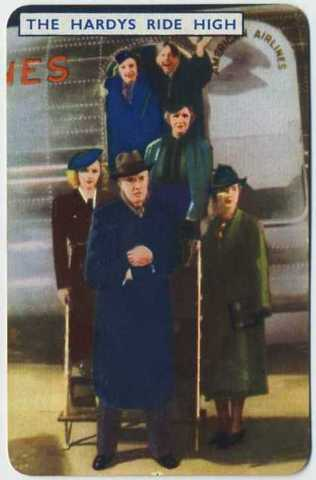 1939 Film Fantasy Game Card picturing the Hardy Family