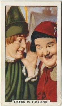 Laurel and Hardy 1935 Gallaher Tobacco Card