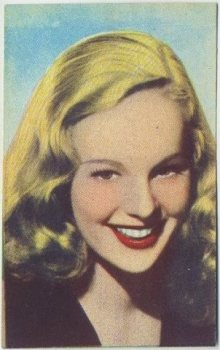 Peggy Cummins 1951 Artisti del Cinema Trading Card