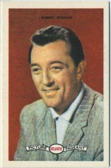 Robert Mitchum 1958 Atlantic Oil Trading Card