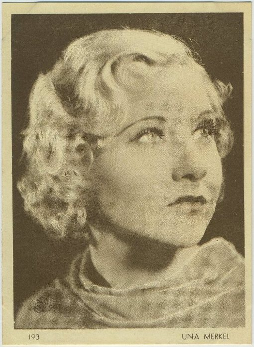 Una Merkel 1930s Aguila Trading Card
