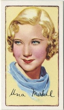 Una Merkel 1935 Gallaher Signed Portraits Tobacco Card