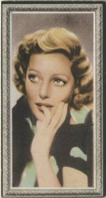Loretta Young 1936 Godfrey Phillips Tobacco Card
