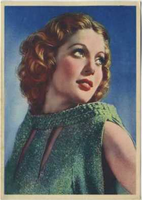 Loretta Young 1936 Nestle Trading Card