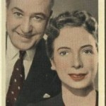 Sara Haden and Minor Watson 1939 A and M Wix Film Favourites Tobacco Card