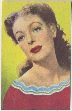 Loretta Young 1951 Artisti del Cinema Trading Card