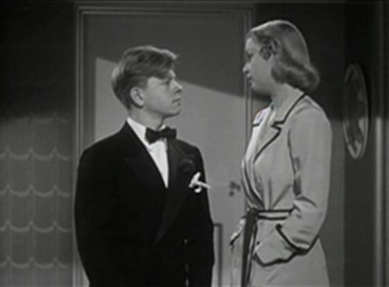 Mickey Rooney and Cecilia Parker