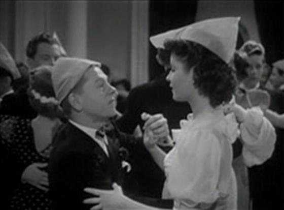 Mickey Rooney and Jacqueline Laurent