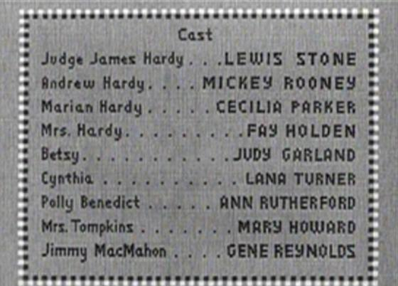 Love Finds Andy Hardy credits