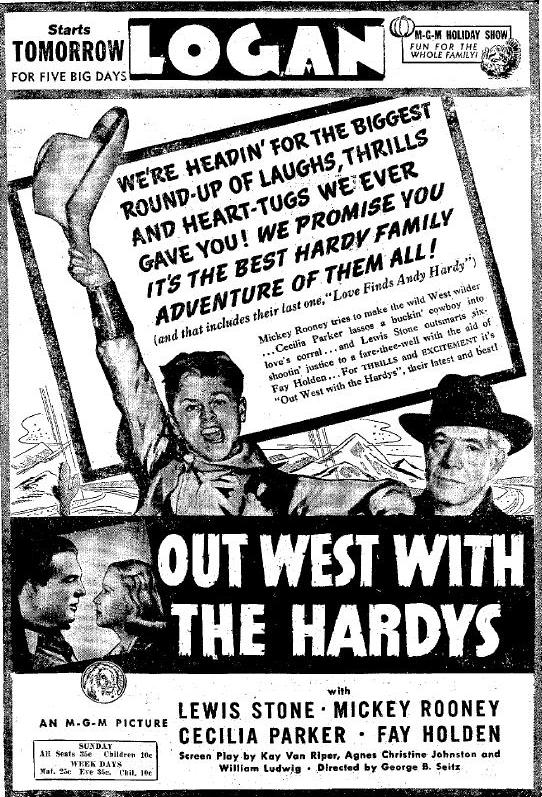 Out West with the Hardys advertisment