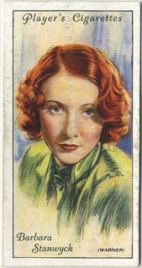 Barbara Stanwyck 1934 Player Tobacco Card
