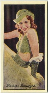 Barbara Stanwyck 1935 Carreras Tobacco Card