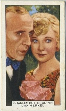 Charles Butterworth and Una Merkel 1935 Gallaher Tobacco Card
