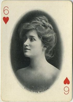 Charlotte Walker 1902 Craddocks Blue Soap Playing Card