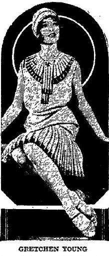 Still Gretchen Young in this May 17, 1927 pic from the Appleton Post Crescent