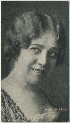 Mae Hotely circa 1917 trading card