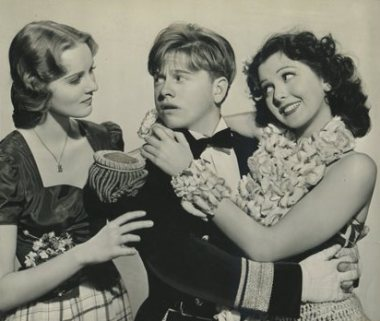 Helen Gilbert, Mickey Rooney and Ann Rutherford