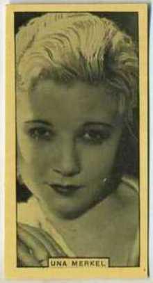 Una Merkel 1932 BAT Tobacco Card