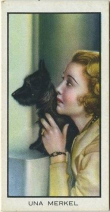 Una Merkel 1935 BAT Cinema Celebrities Tobacco Card