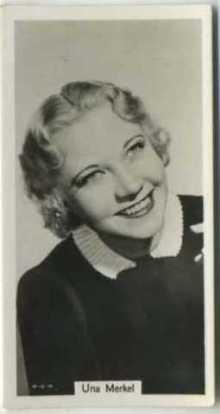 Una Merkel 1939 RJ Lea Tobacco Card