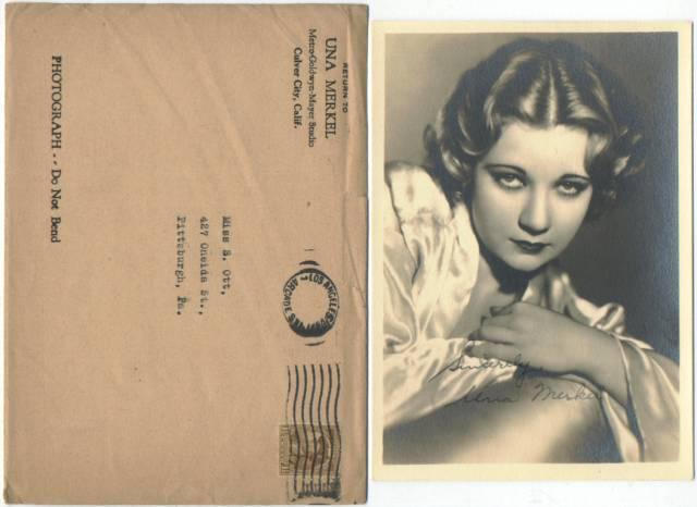 Una Merkel early 1930s 5x7 Fan Photo