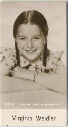 Virginia Weidler 1940 De Beukelaer Trading Card