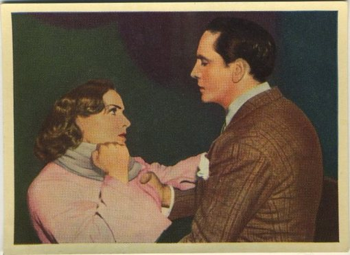 Carole Lombard and Fredric March 1940 Cinema Cavalcade Tobacco Card