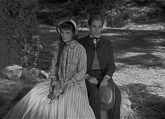 Katharine Hepburn and Douglass Montgomery