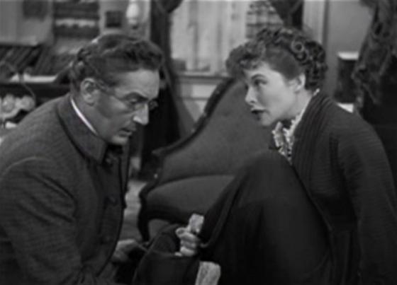 Paul Lukas and Katharine Hepburn