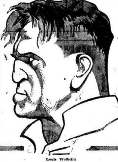 Louis Wolheim 1925 Newspaper Cartoon